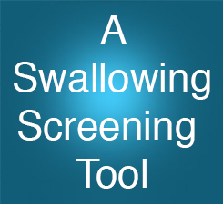 Swallowing screening button